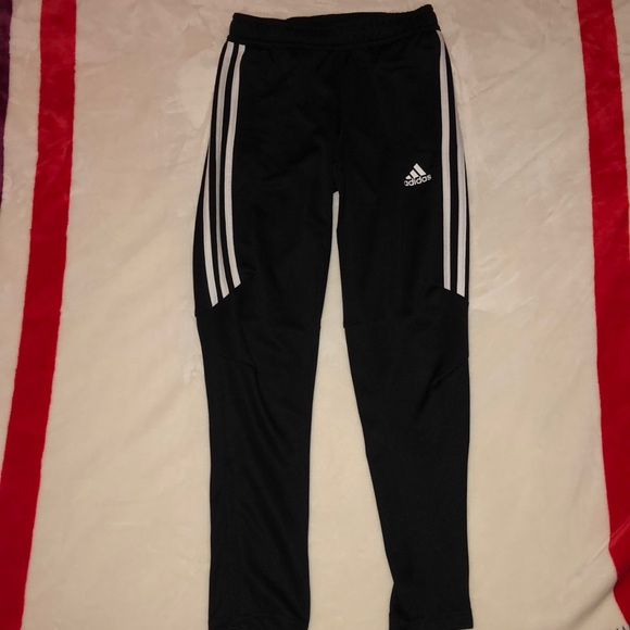 adidas pants half stripe